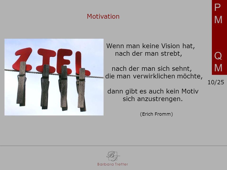 PM QM Motivation Wenn man keine Vision hat, nach der man strebt,