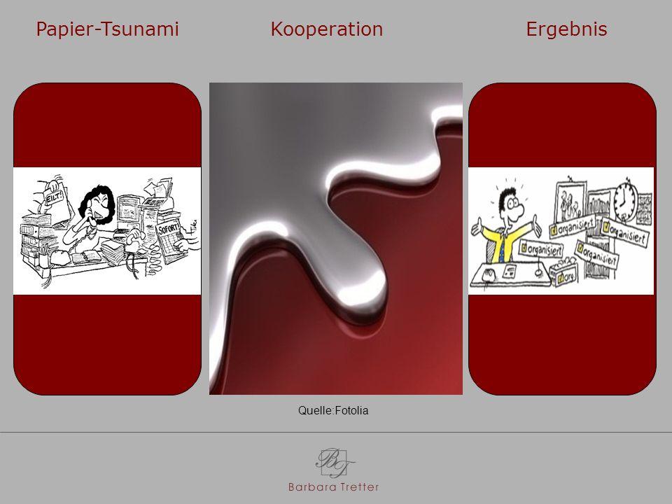 Papier-Tsunami Kooperation Ergebnis
