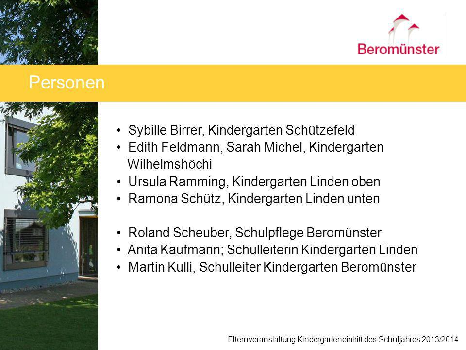 Personen Sybille Birrer, Kindergarten Schützefeld