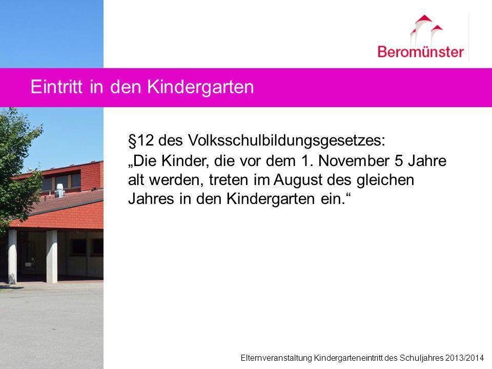 Eintritt in den Kindergarten