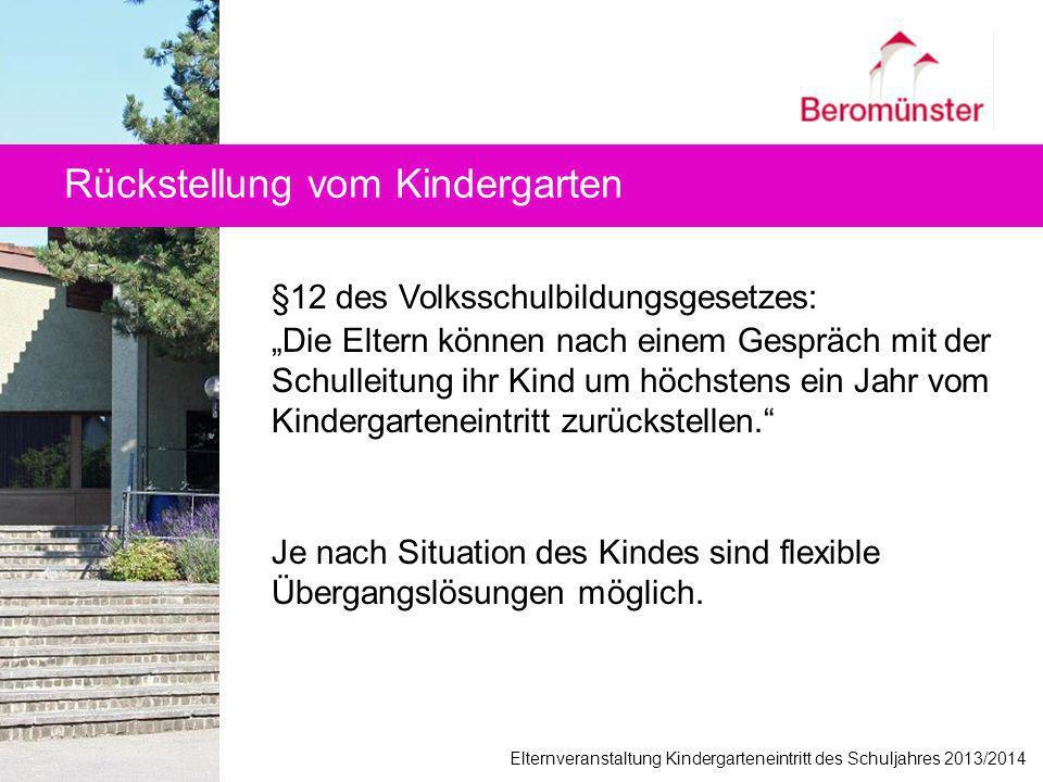 Rückstellung vom Kindergarten