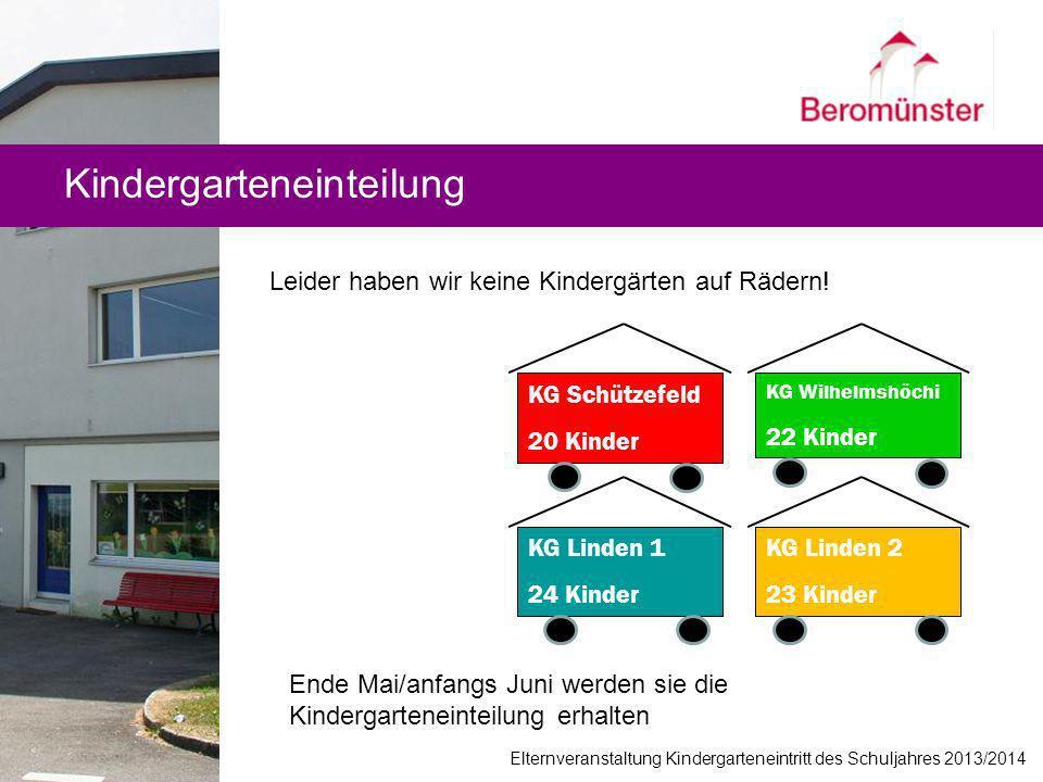 Kindergarteneinteilung
