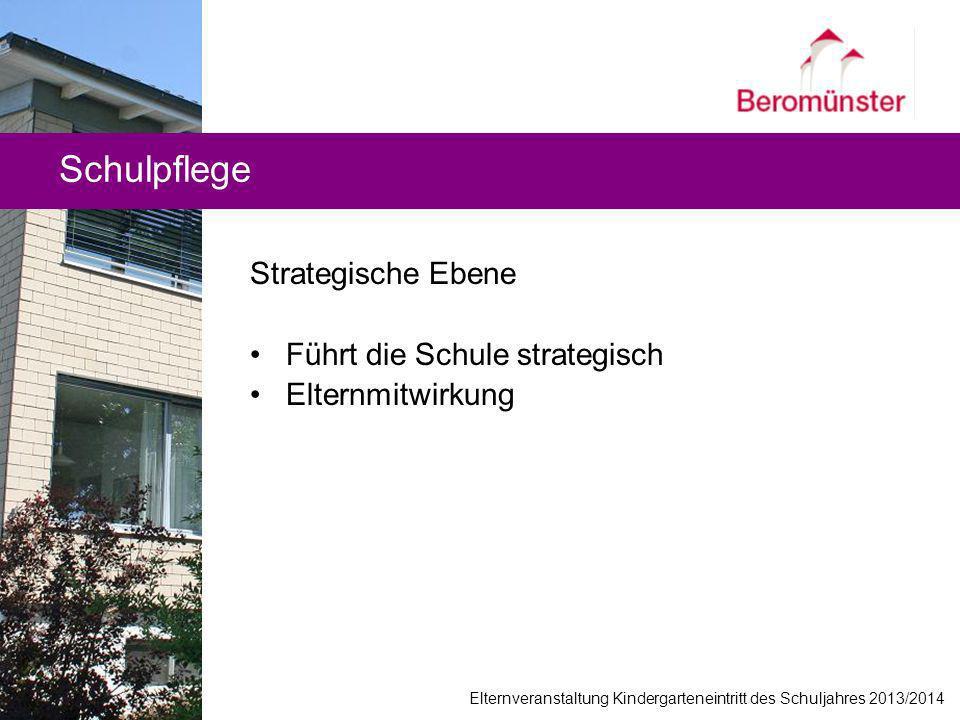 Schulpflege Strategische Ebene Führt die Schule strategisch