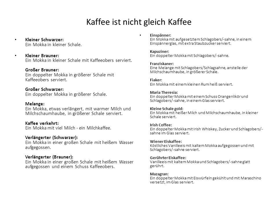 Kaffee ist nicht gleich Kaffee