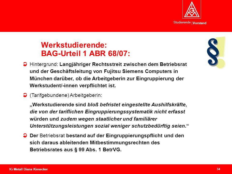 Werkstudierende: BAG-Urteil 1 ABR 68/07: