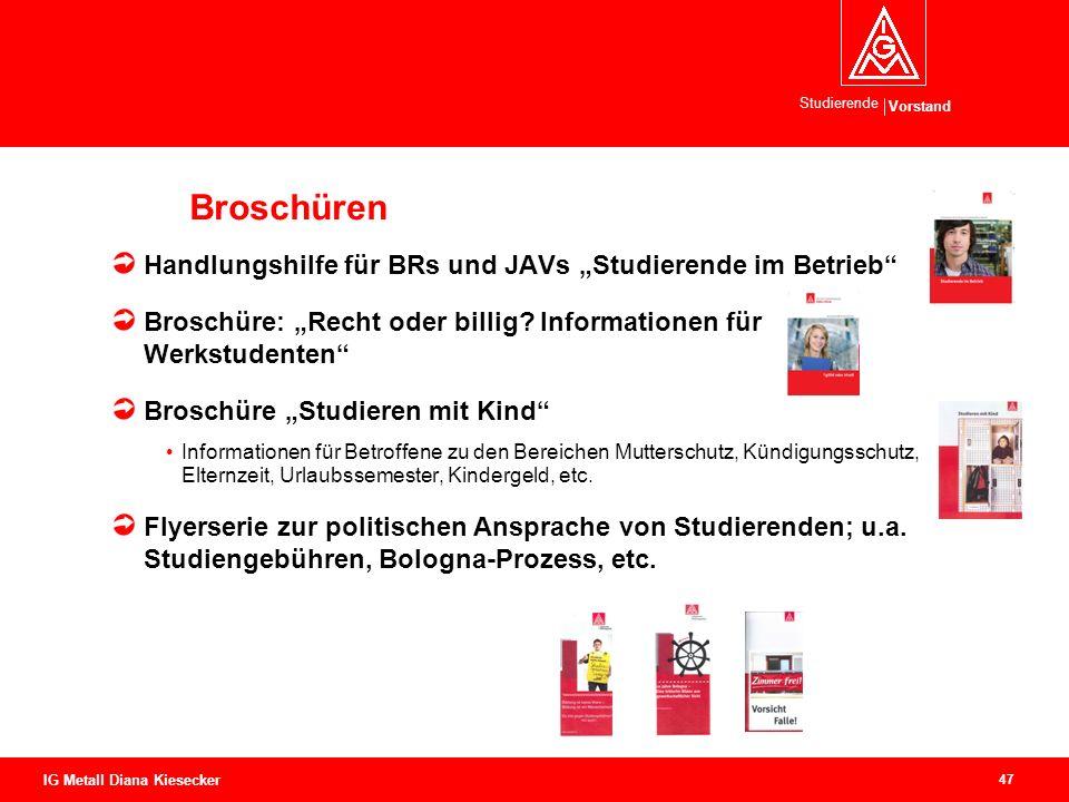 """Broschüren Handlungshilfe für BRs und JAVs """"Studierende im Betrieb"""