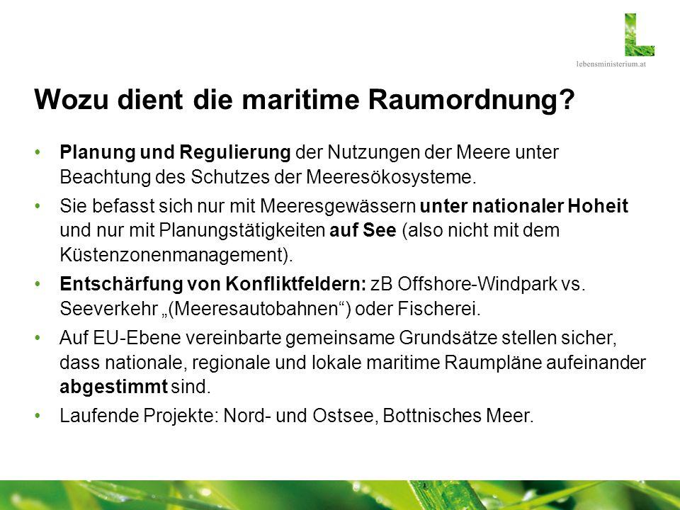 Wozu dient die maritime Raumordnung