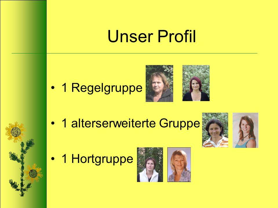 Unser Profil 1 Regelgruppe 1 alterserweiterte Gruppe 1 Hortgruppe