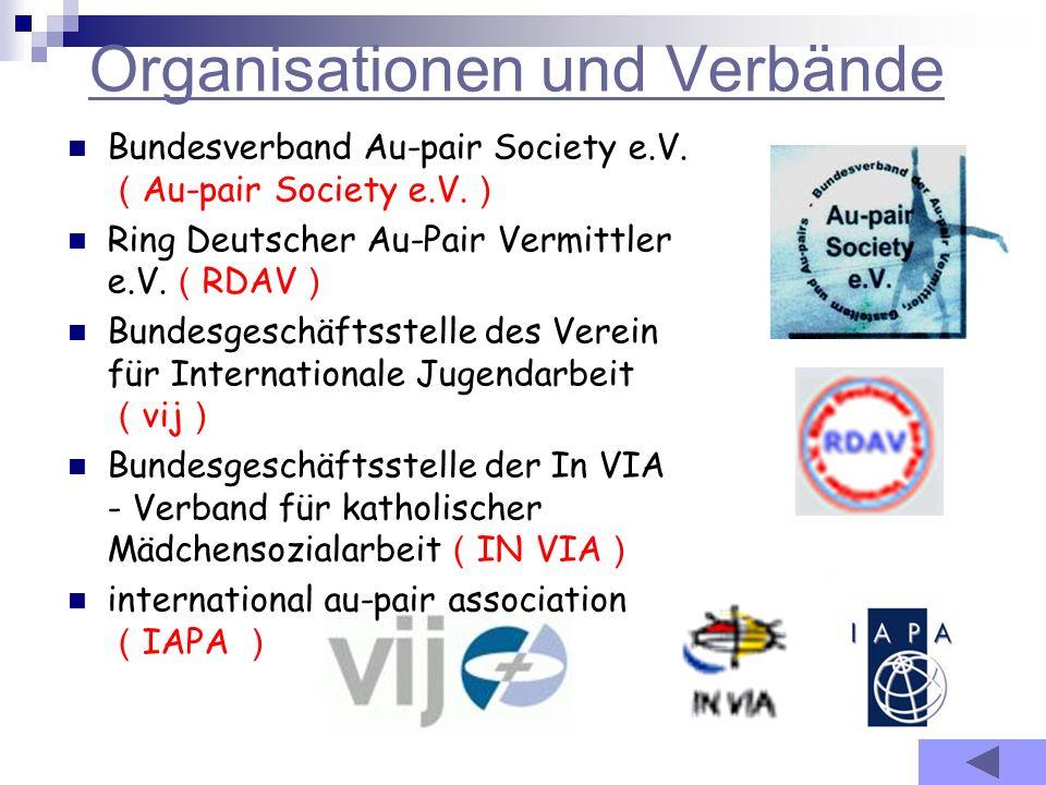 Organisationen und Verbände