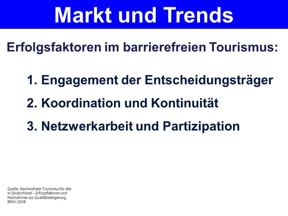 Markt und Trends Erfolgsfaktoren im barrierefreien Tourismus: