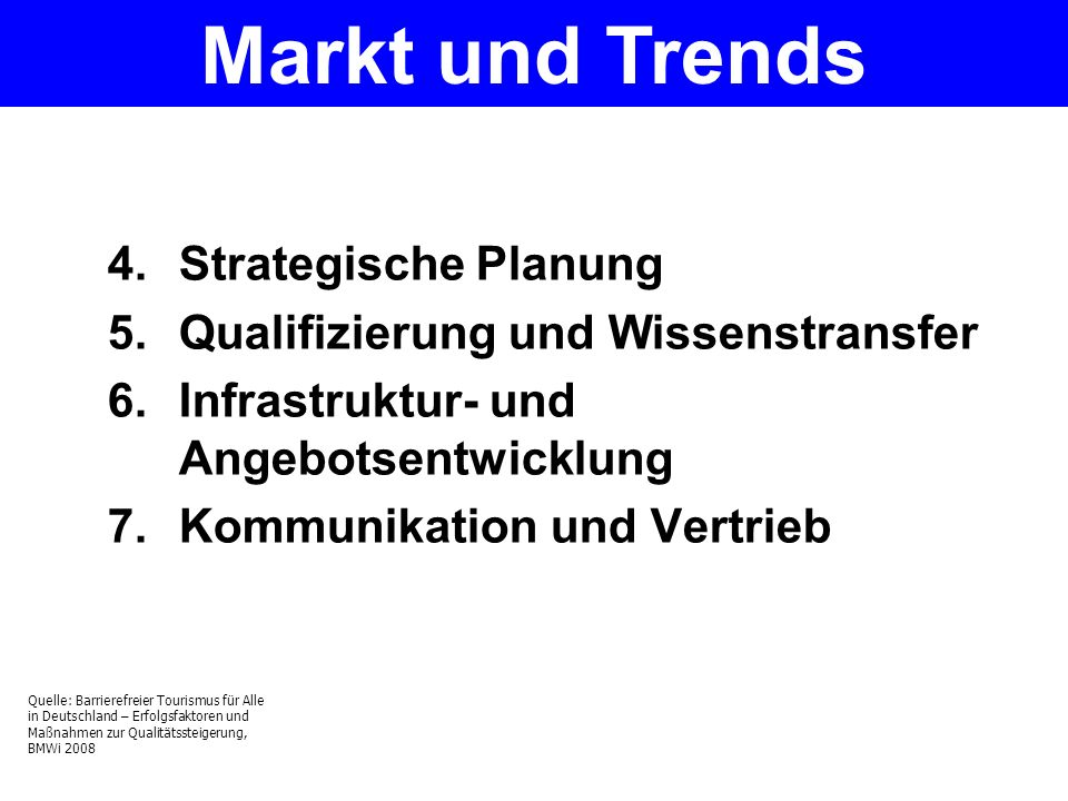 Markt und Trends Strategische Planung