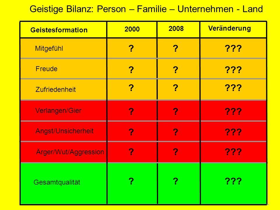 Geistige Bilanz: Person – Familie – Unternehmen - Land