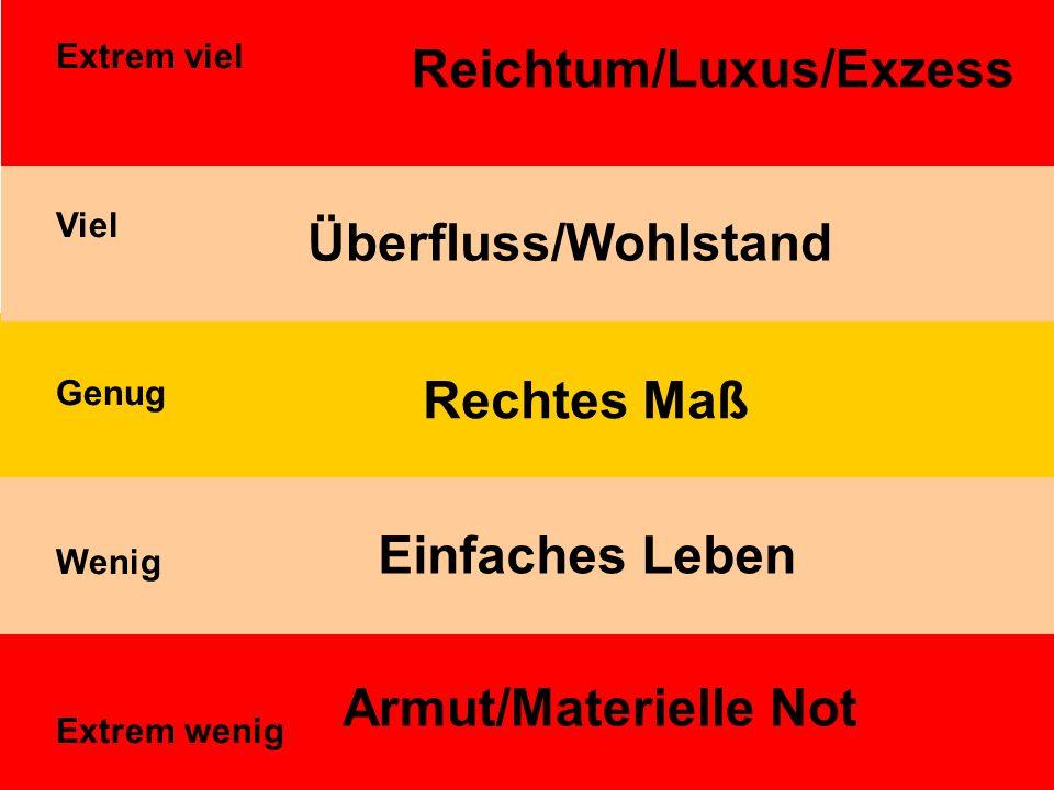 Reichtum/Luxus/Exzess