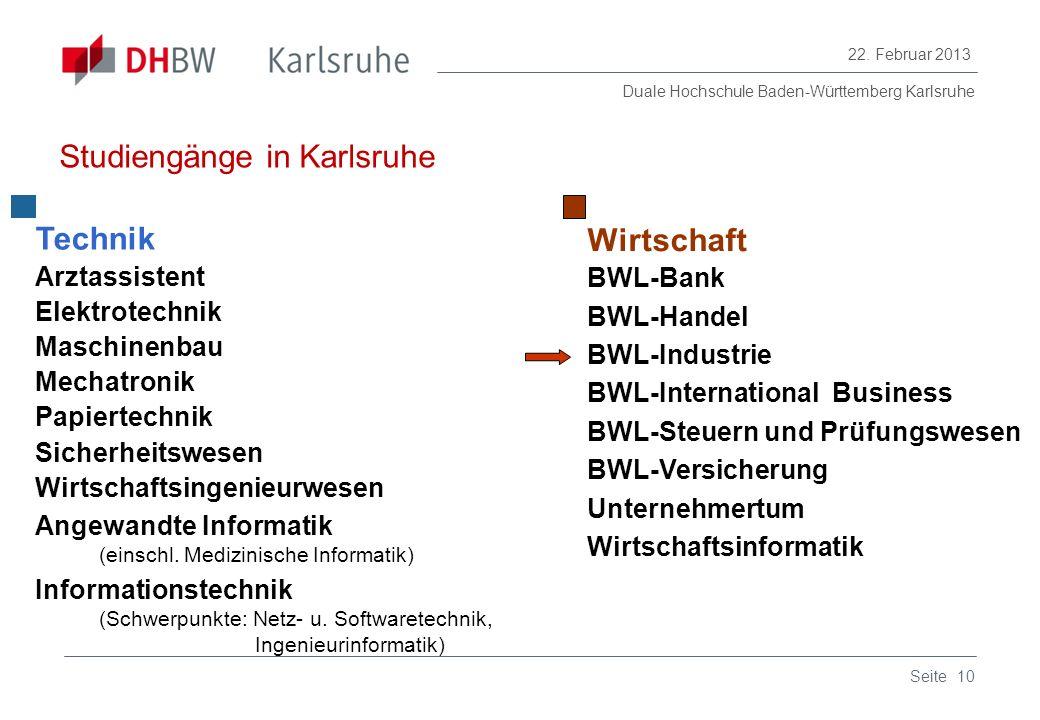 Studiengänge in Karlsruhe
