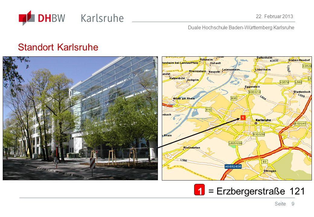 Standort Karlsruhe 1 = Erzbergerstraße 121 Seite