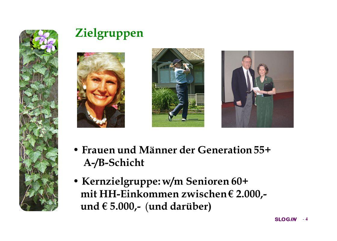 Zielgruppen Frauen und Männer der Generation 55+ A-/B-Schicht