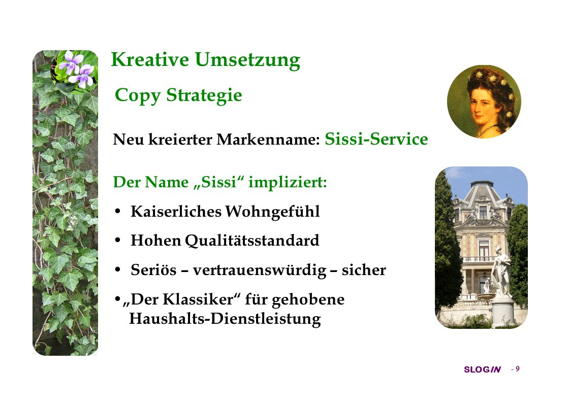 Kreative Umsetzung Copy Strategie