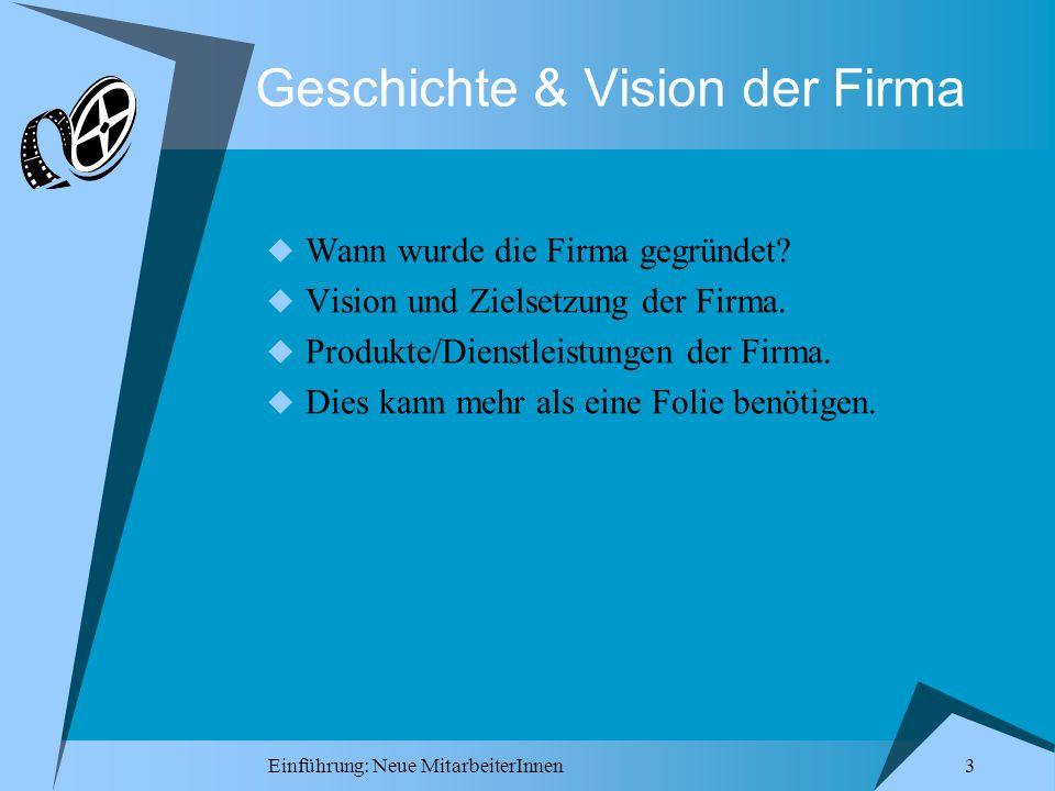 Geschichte & Vision der Firma