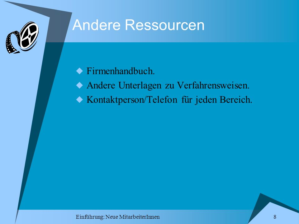 Andere Ressourcen Firmenhandbuch.