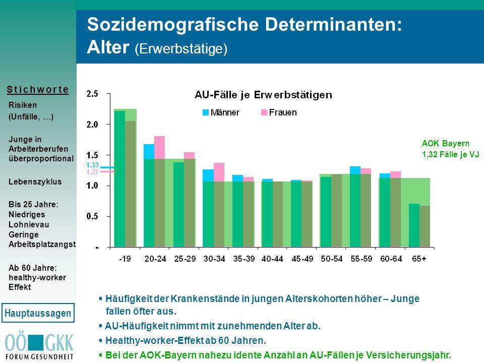 Sozidemografische Determinanten: Alter (Erwerbstätige)