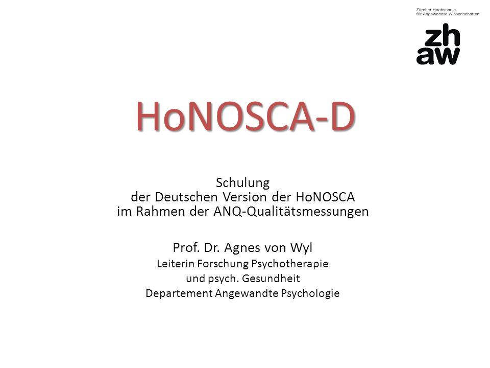 HoNOSCA-D Schulung der Deutschen Version der HoNOSCA