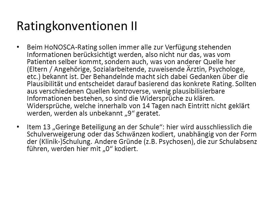 Ratingkonventionen II