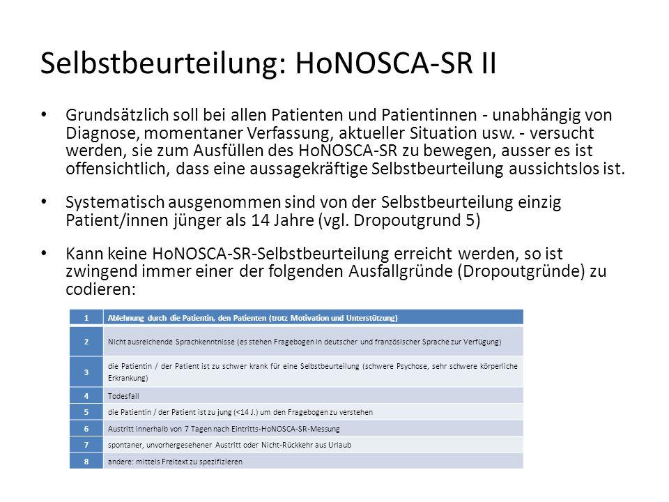 Selbstbeurteilung: HoNOSCA-SR II