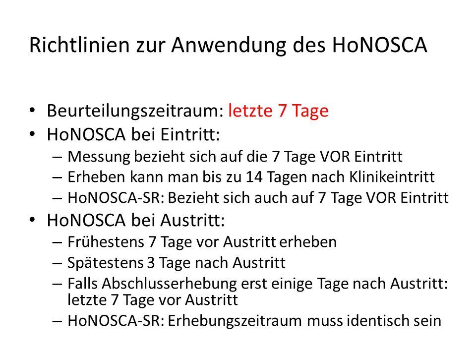 Richtlinien zur Anwendung des HoNOSCA