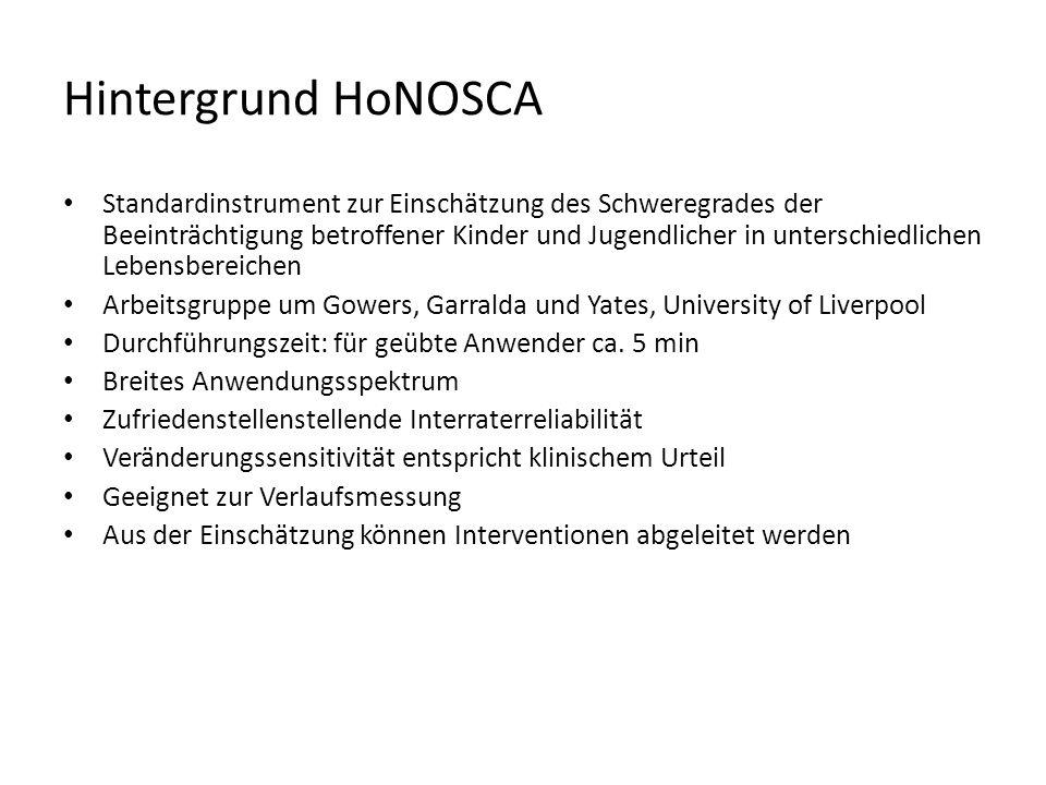 Hintergrund HoNOSCA