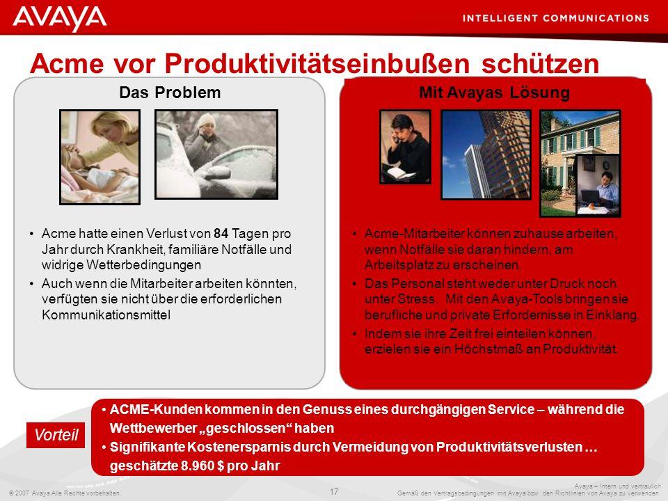 Acme vor Produktivitätseinbußen schützen