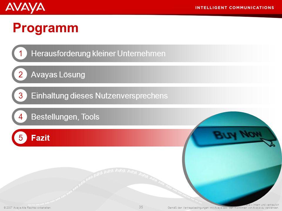 Programm Herausforderung kleiner Unternehmen 1 Avayas Lösung 2