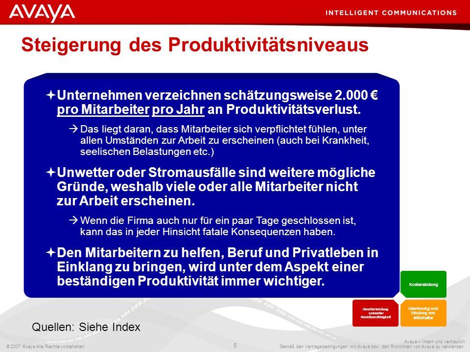 Steigerung des Produktivitätsniveaus