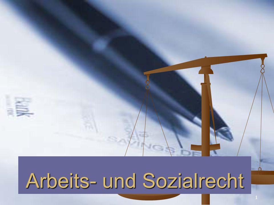 Arbeits- und Sozialrecht