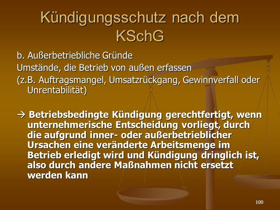 Kündigungsschutz nach dem KSchG