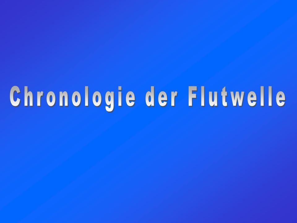 Chronologie der Flutwelle