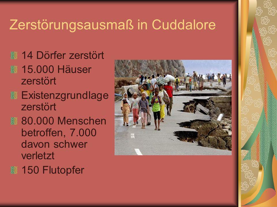 Zerstörungsausmaß in Cuddalore