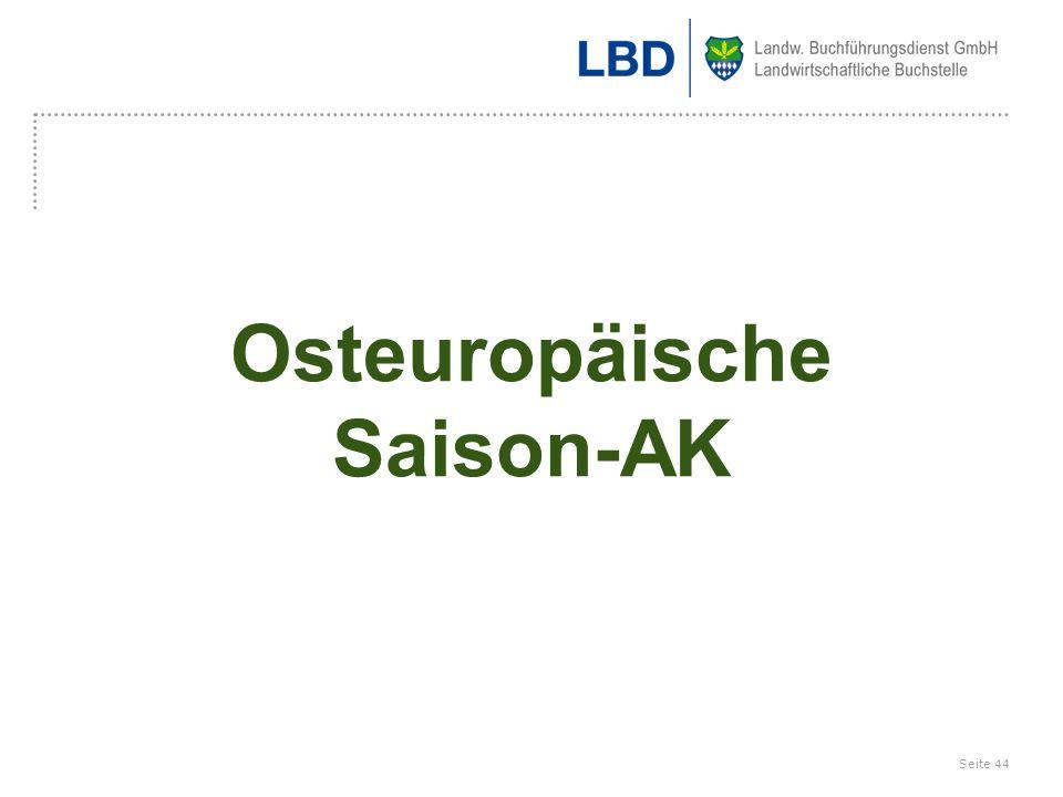 Osteuropäische Saison-AK