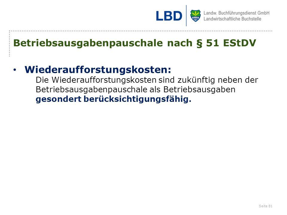 Betriebsausgabenpauschale nach § 51 EStDV