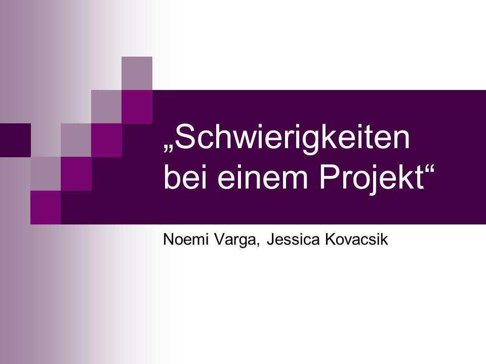 """""""Schwierigkeiten bei einem Projekt"""