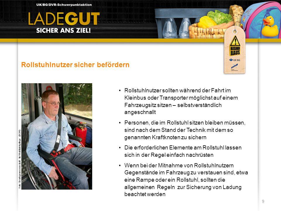Rollstuhlnutzer sicher befördern