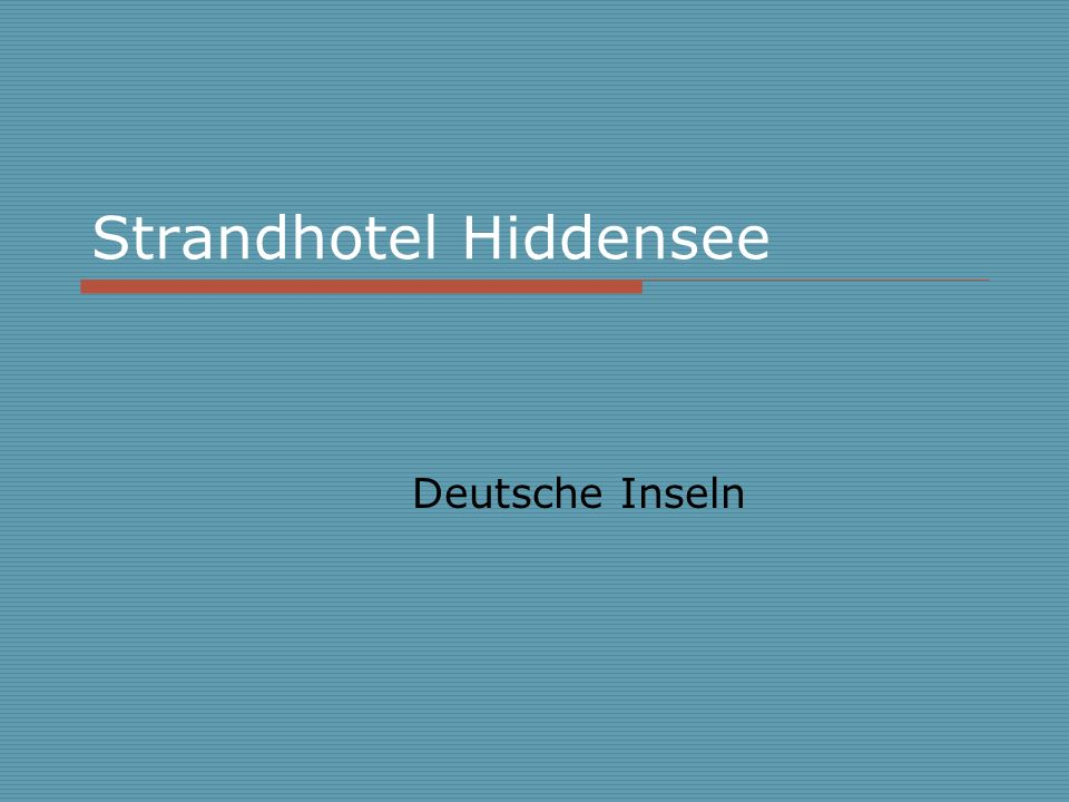 Strandhotel Hiddensee