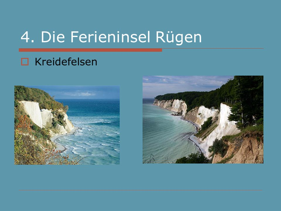 4. Die Ferieninsel Rügen Kreidefelsen