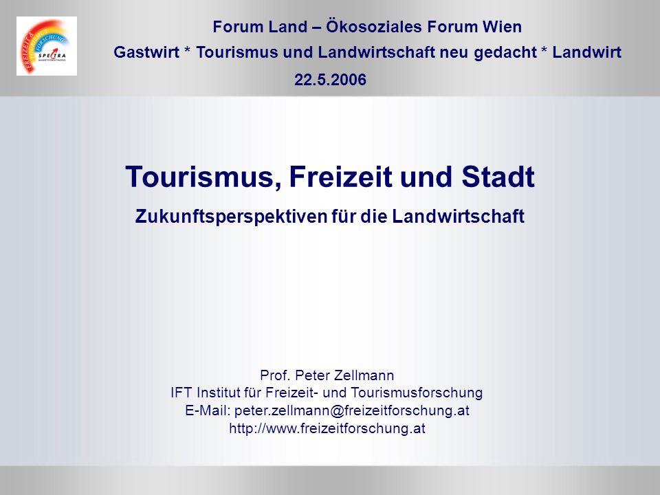 Tourismus, Freizeit und Stadt