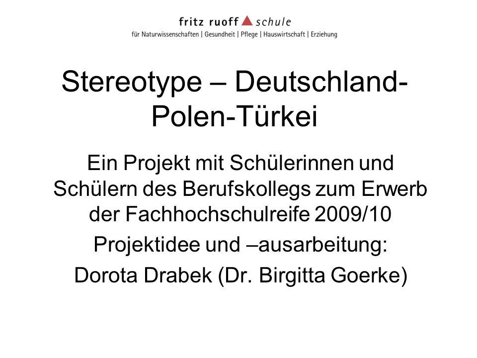 Stereotype – Deutschland-Polen-Türkei