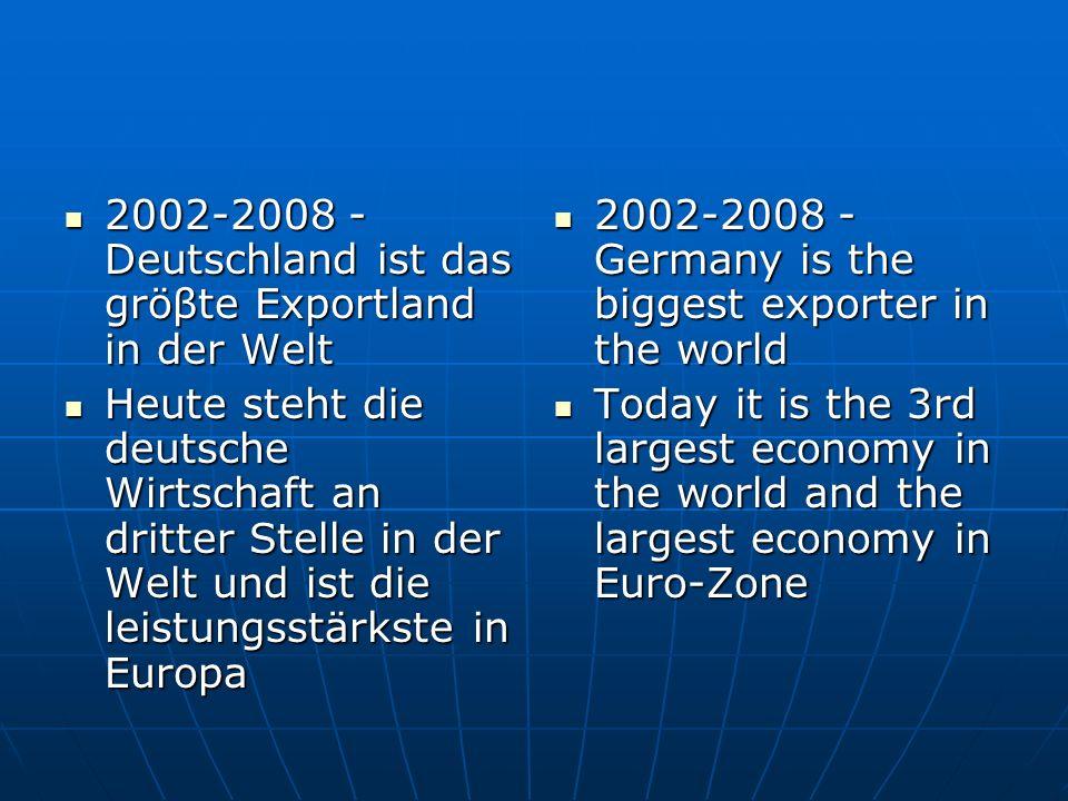 2002-2008 - Deutschland ist das gröβte Exportland in der Welt