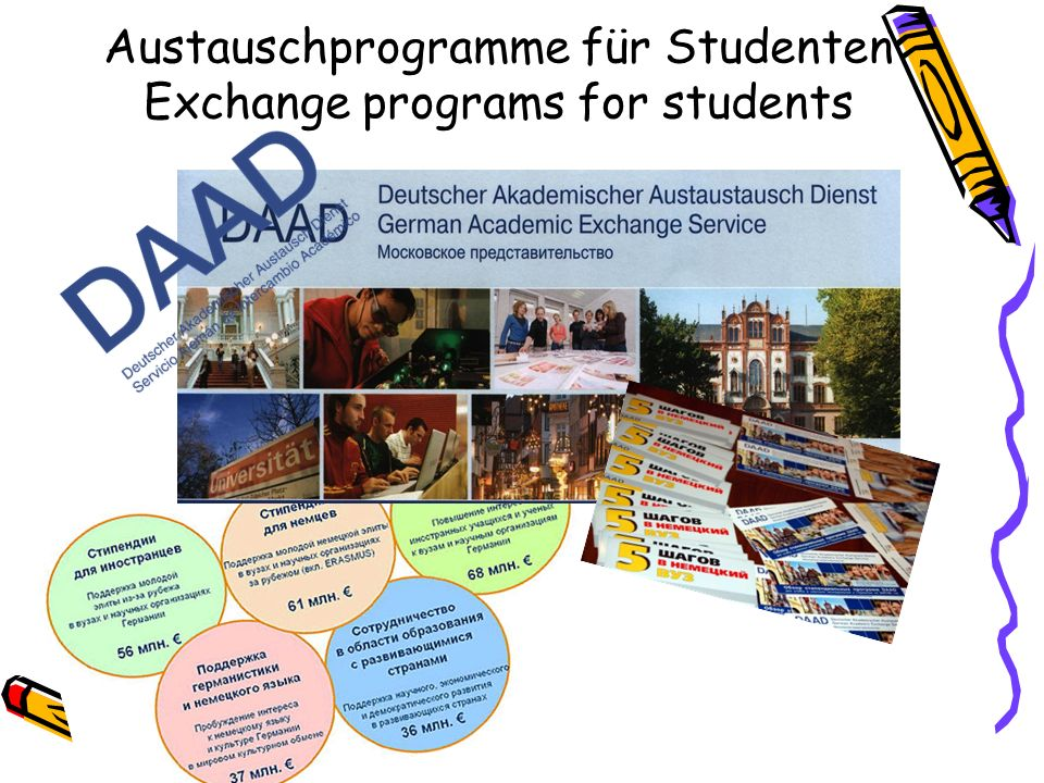 Austauschprogramme für Studenten Exchange programs for students