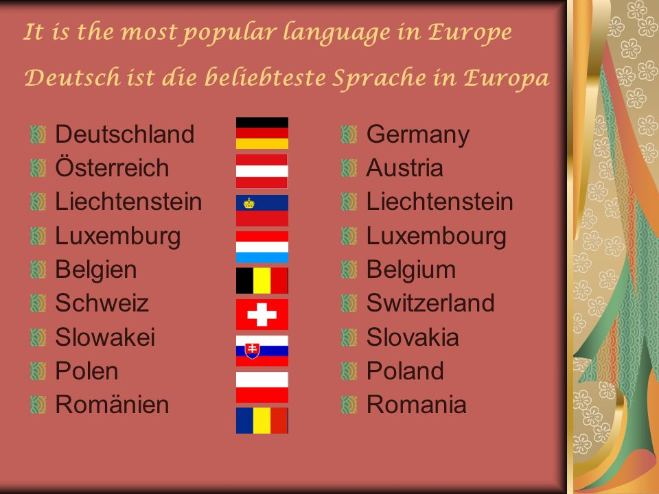 Deutschland Österreich Liechtenstein Luxemburg Belgien Schweiz