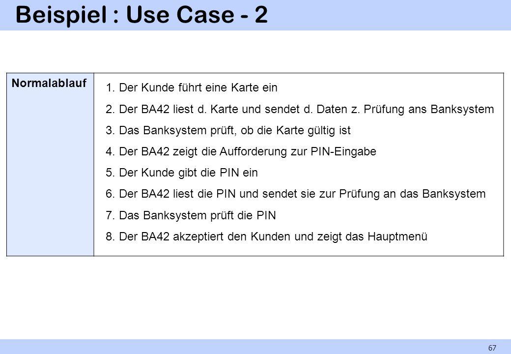 Beispiel : Use Case - 2 Normalablauf