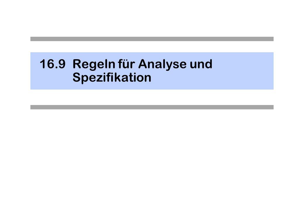 16.9 Regeln für Analyse und Spezifikation