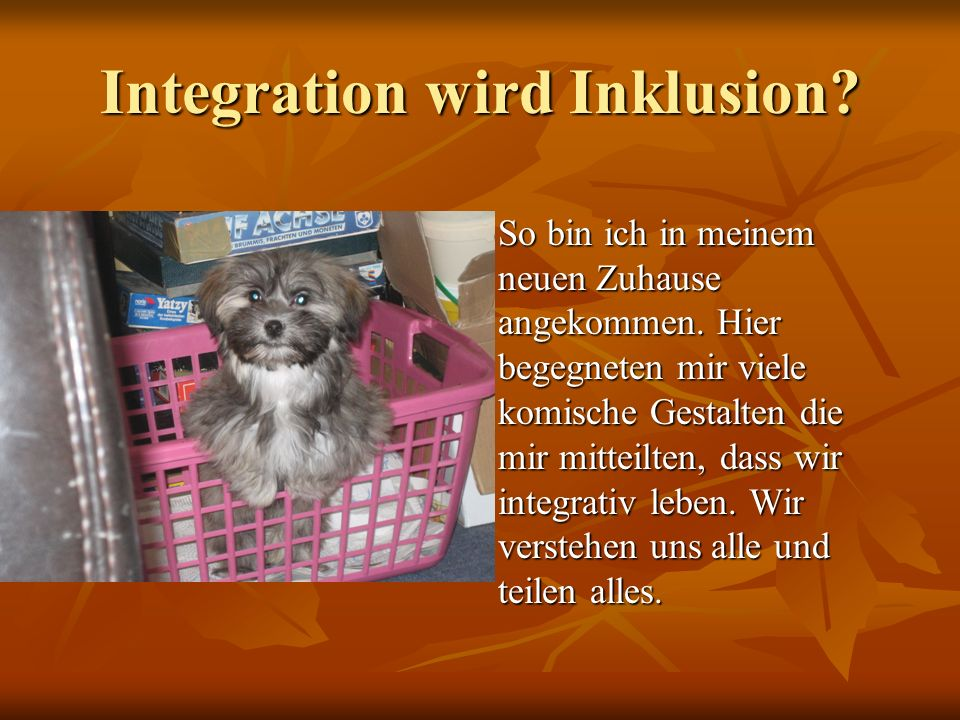 Integration wird Inklusion